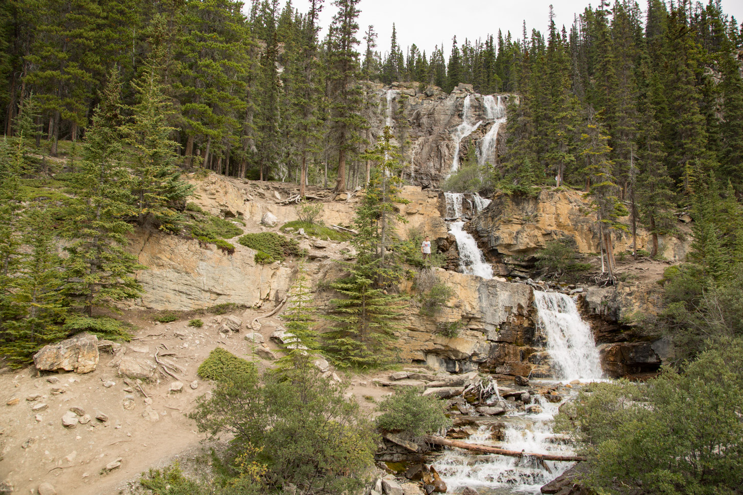 Watervallen in Jasper National Park