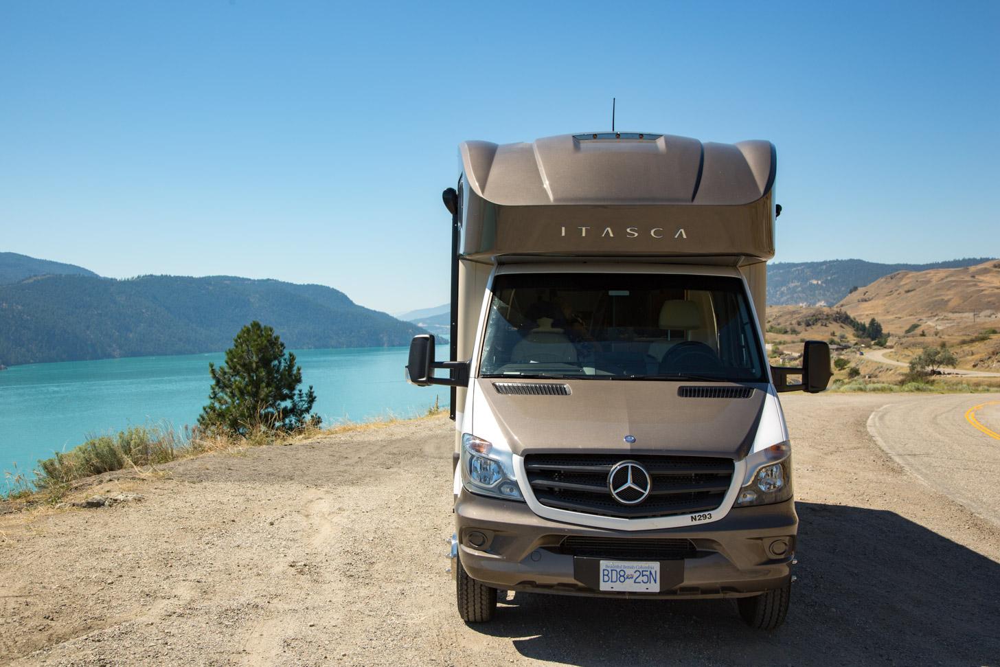 Een luxe camper in Canada